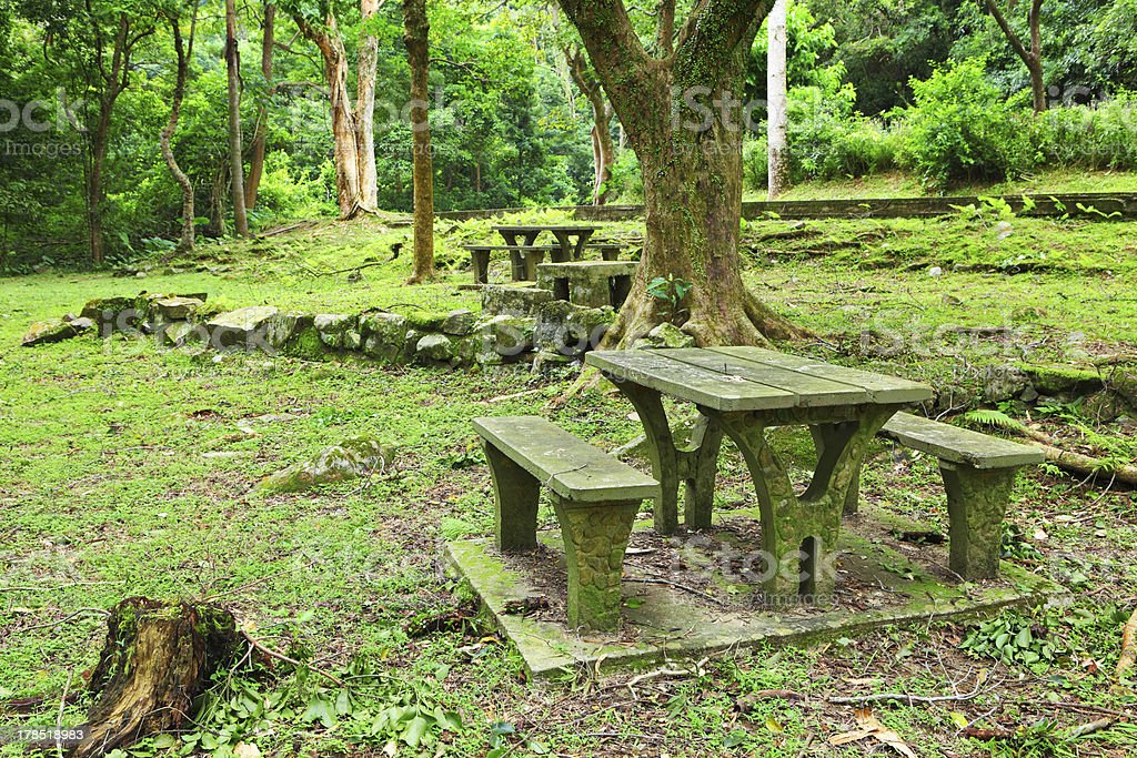 Picnic place royalty-free stock photo
