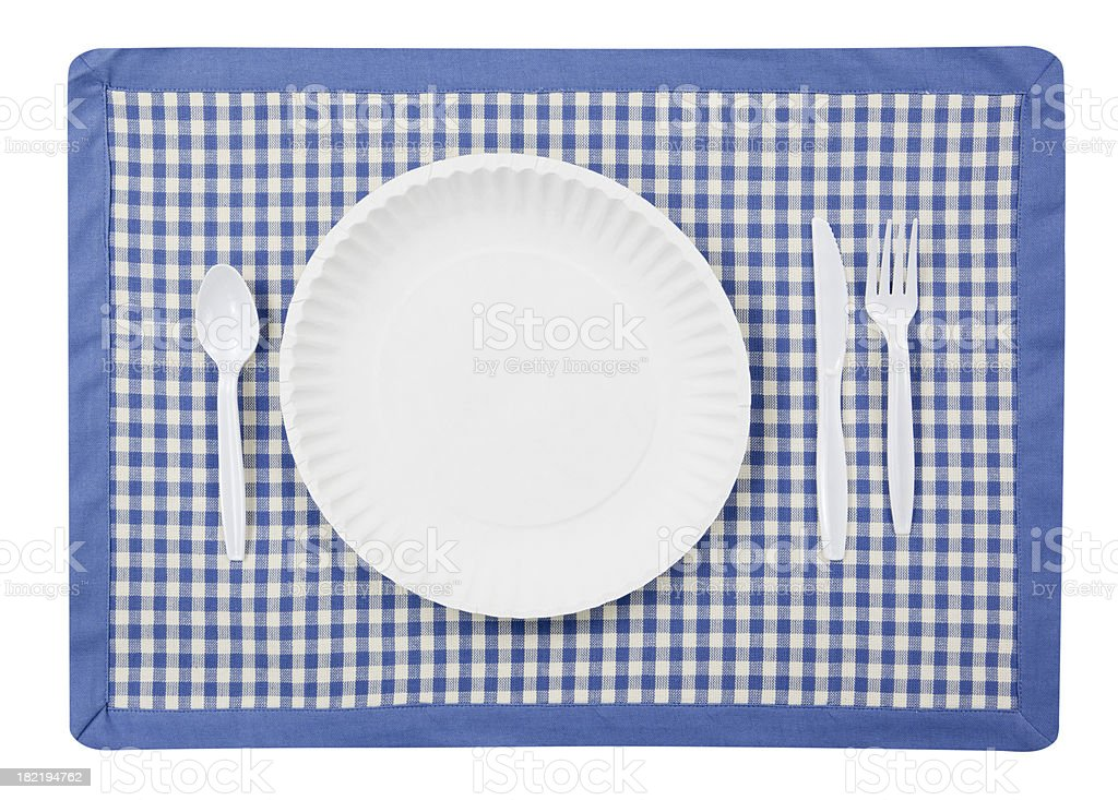 Picnic Place Setting Isolated royalty-free stock photo