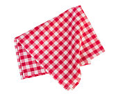 Picnic red cloth isolated.