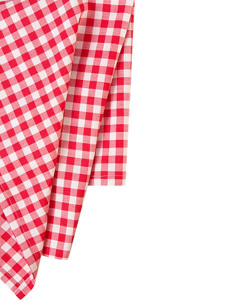 picnic red clothes border decoration isolated.pizza design. - klapprahmen stock-fotos und bilder