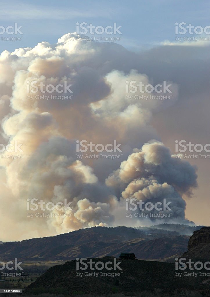 Picnic Rock Forest Fire Near Fort Collins, Colorado stock photo