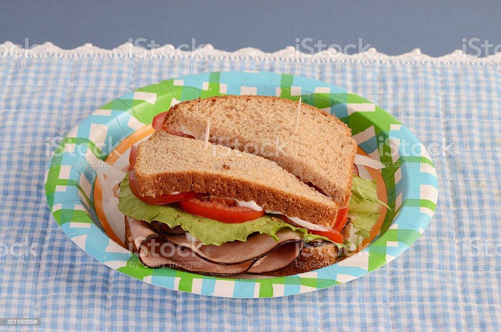 Picnic Sandwich stock photo