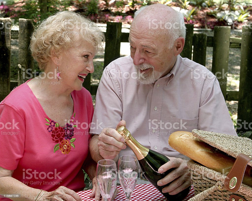 Picnic Seniors - Loving Gaze royalty-free stock photo