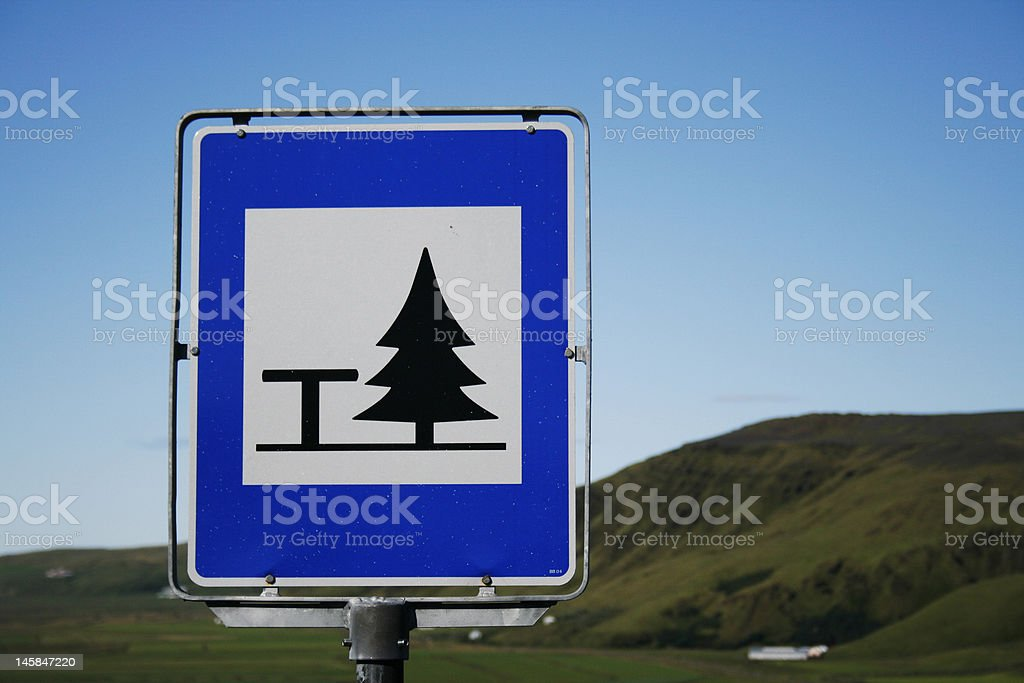 Picnic sign royalty-free stock photo