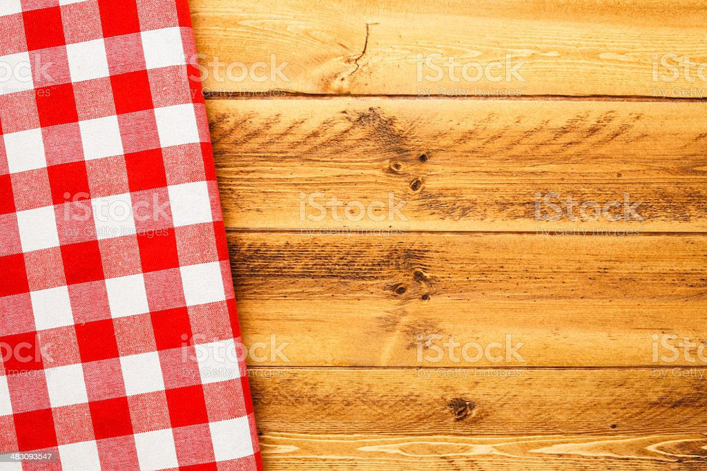 Picnic Table and Napkin stock photo