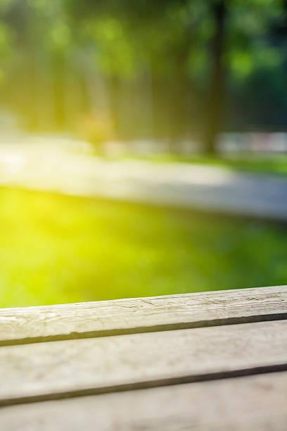Picknick-Tisch Nahaufnahme in der Natur – Foto