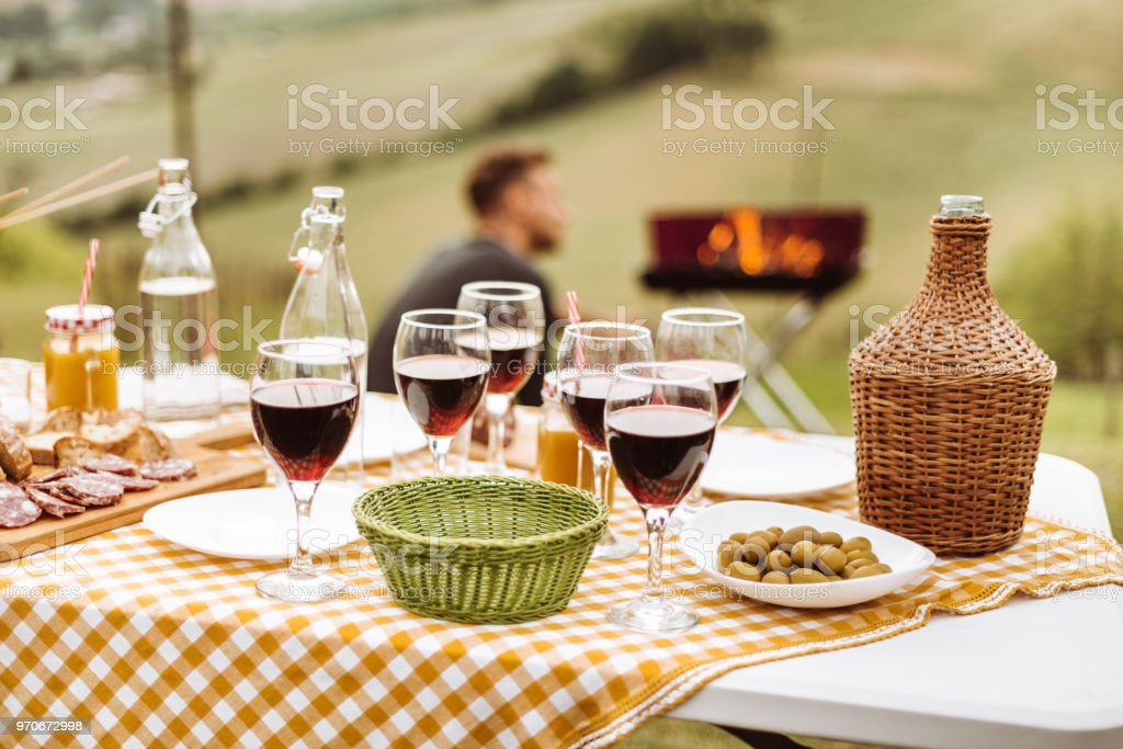 picnic table on the countryside stock photo & Royalty Free Italian Table Setting Pictures Images and Stock Photos ...