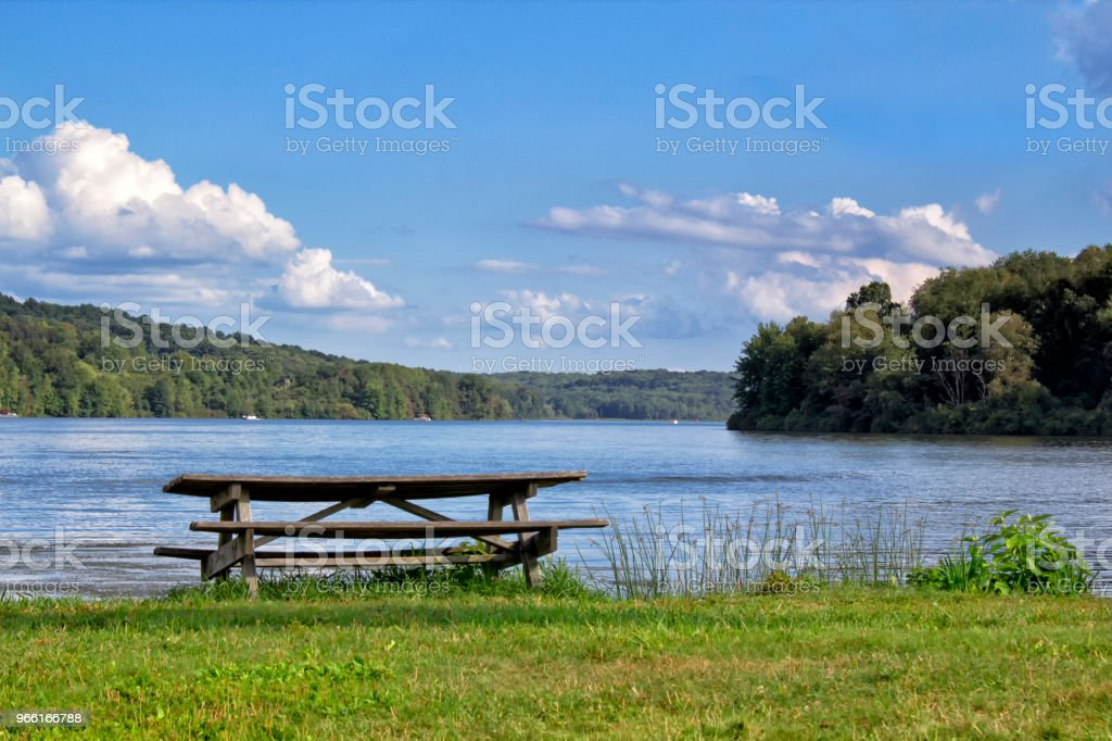 Picnic Table - Royalty-free Agricultural Field Stock Photo