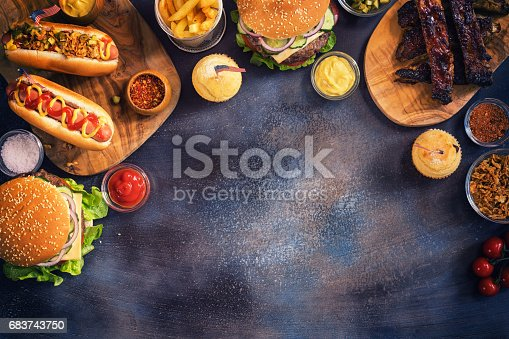 534317162 istock photo Picnic Table to Celebrate 4th of July 683743750