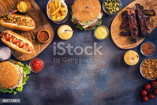 534317162 istock photo Picnic Table to Celebrate 4th of July 683743820