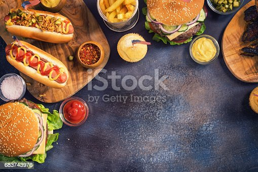 534317162 istock photo Picnic Table to Celebrate 4th of July 683743976