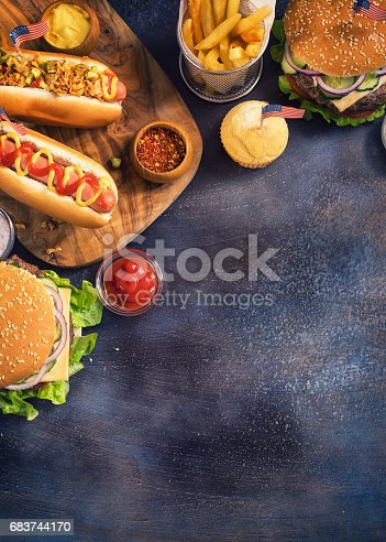 534317162 istock photo Picnic Table to Celebrate 4th of July 683744170