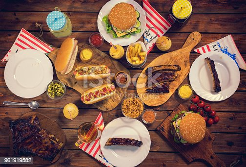 534317162 istock photo Picnic Table to Celebrate 4th of July 961919582