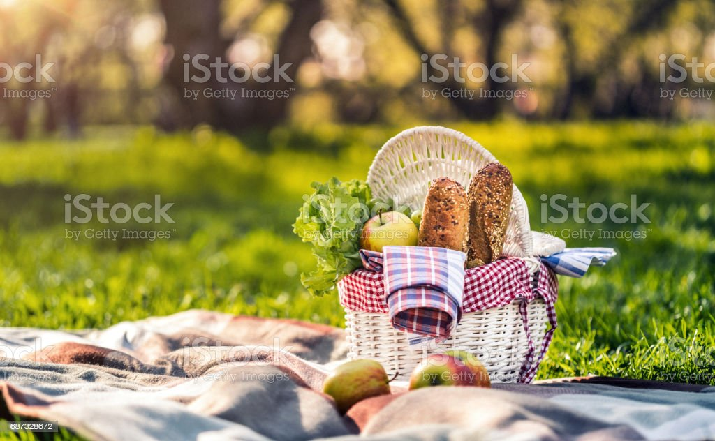 Picnic time stock photo