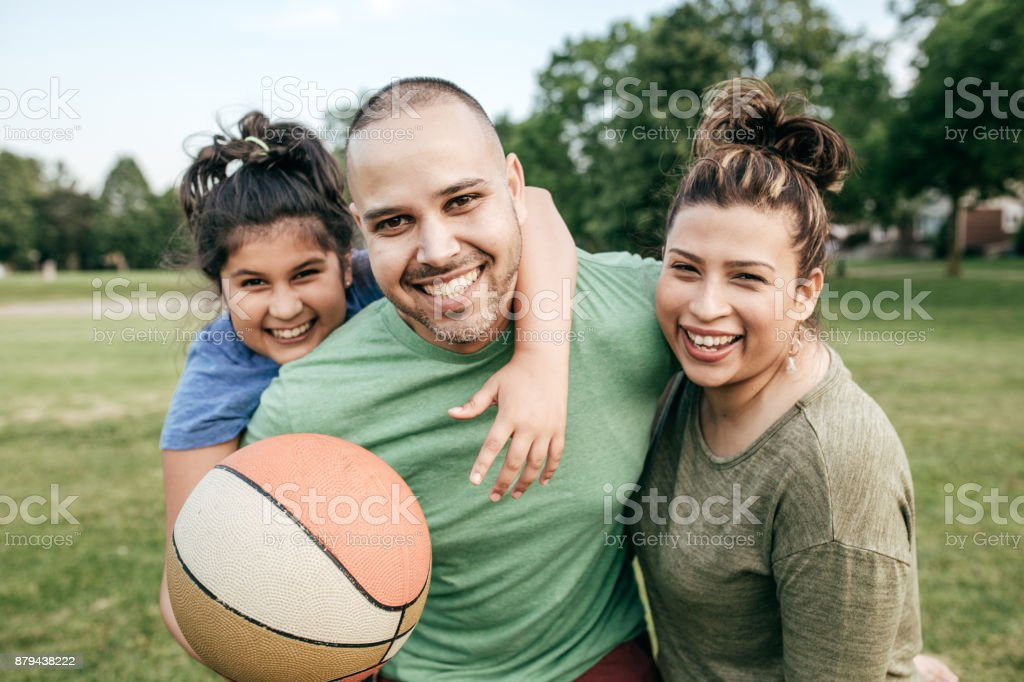 Picnic with family stock photo