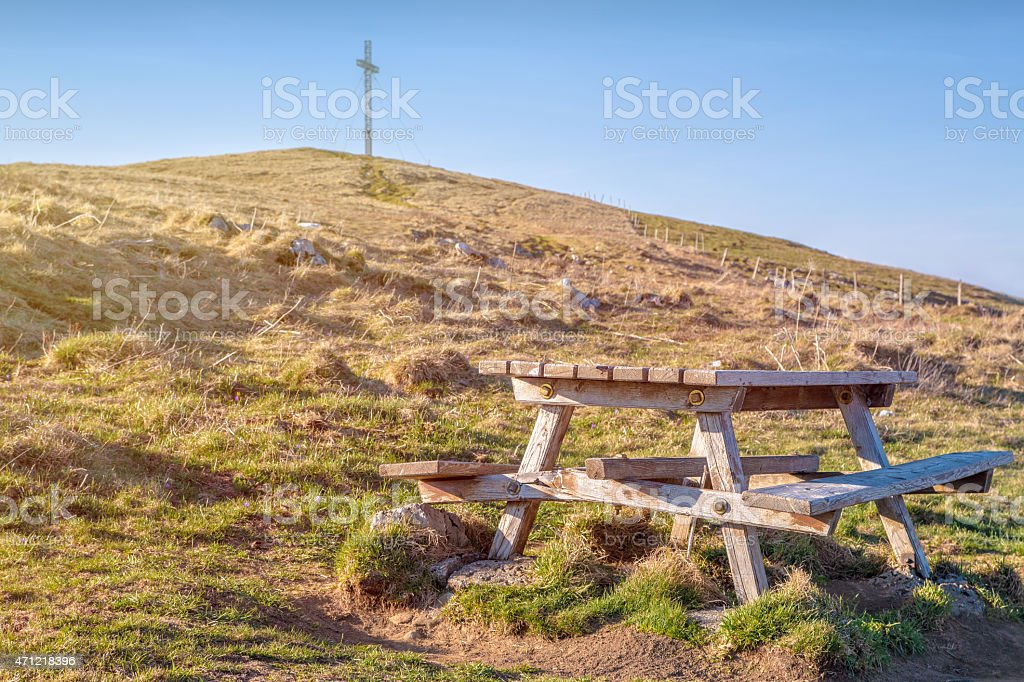 Horizontal scenics landscape view, from top mountain peak, of Alps...