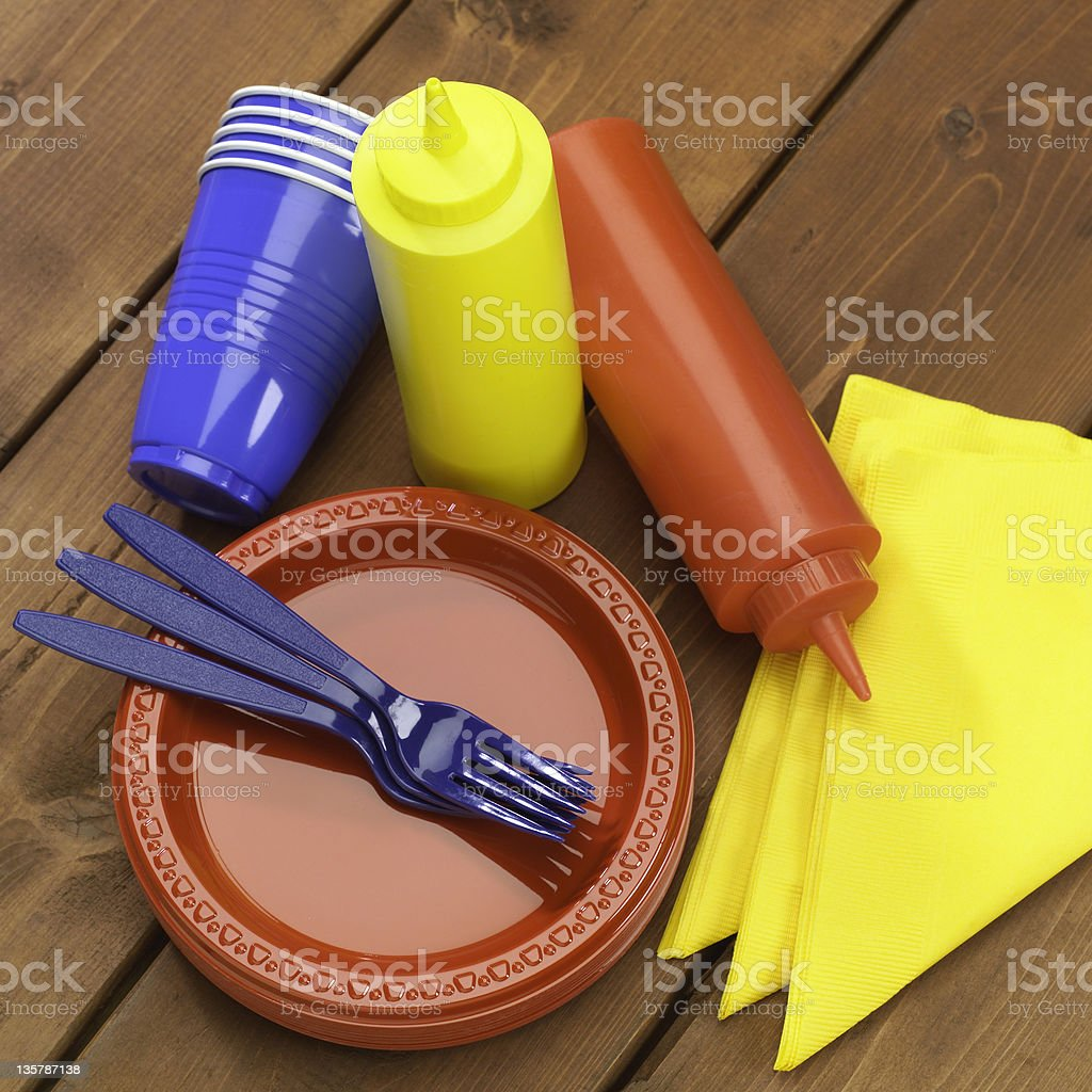 Picnic/BBQ accessories royalty-free stock photo
