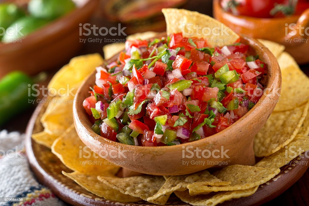 Salsa Pico De Gallo stock photo