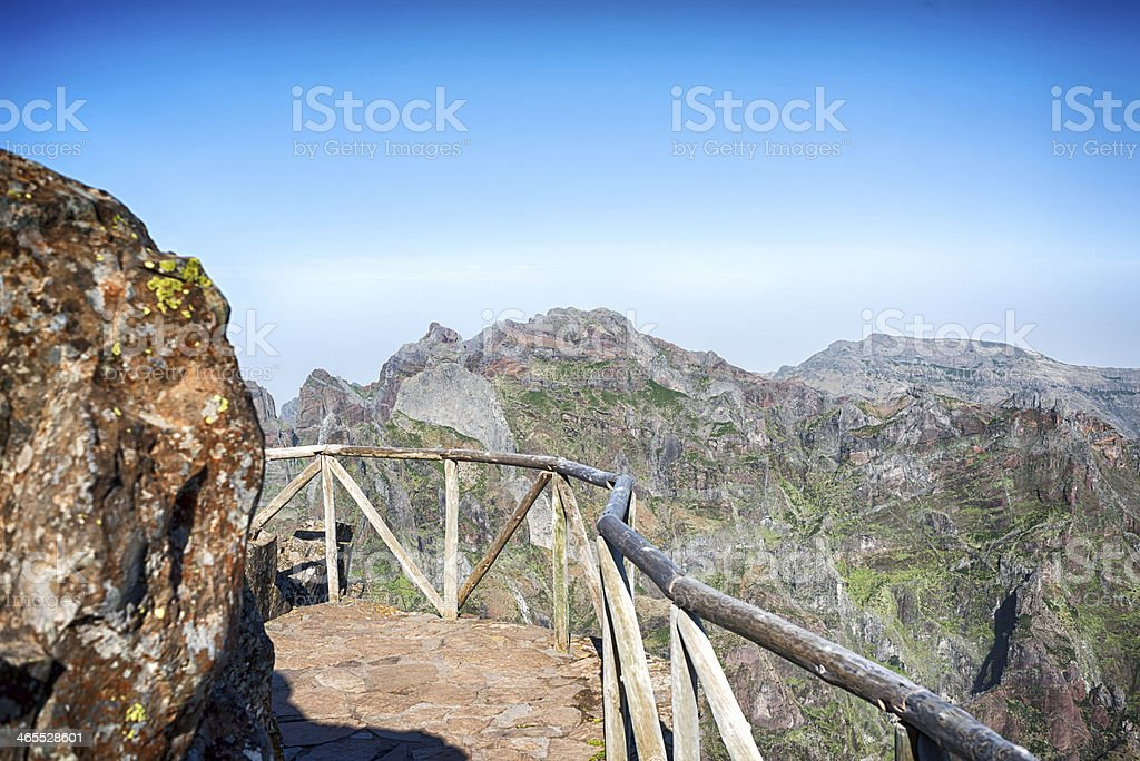 Pico do Arieiro, Madeira. stock photo