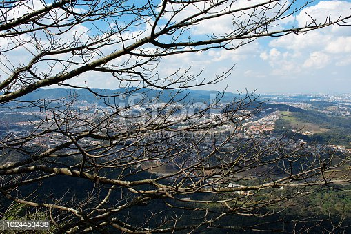 View of the city of São Paulo from the top of the Jaragua Peak