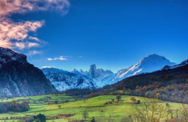 Picos de Europa National Park, Asturias stock photo