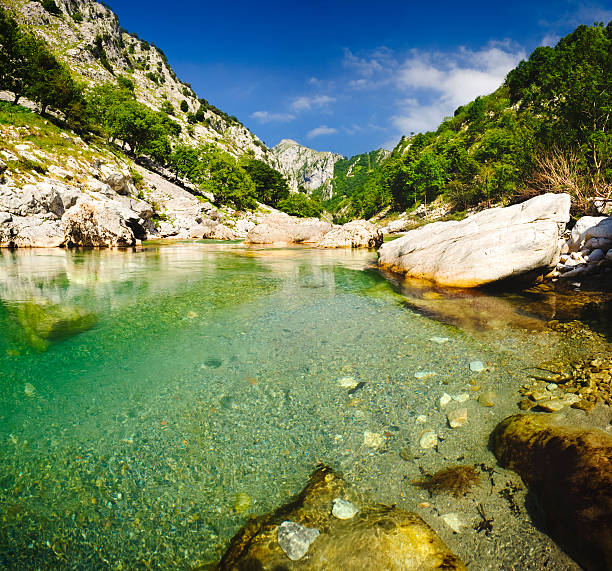 Picos de Europa spanish landscape stock photo