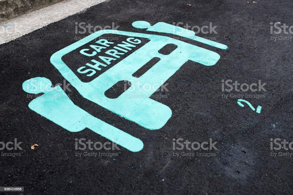 Carro de pictograma partilha, Singapura - foto de acervo
