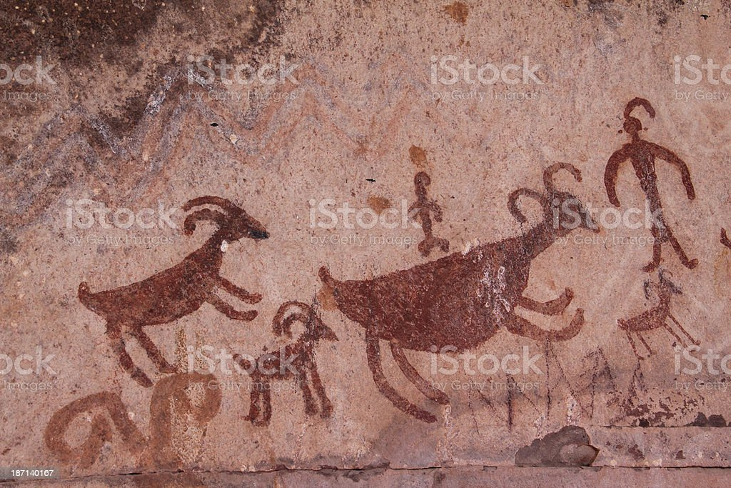 Pictograph Rock Art Arizona stock photo