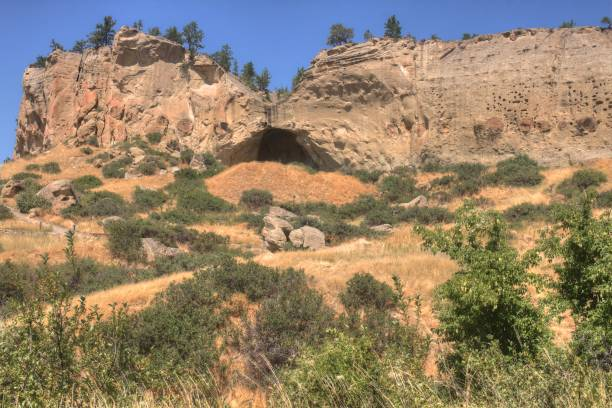 Pictograph State Park outside of Billings, Montana in Summer stock photo