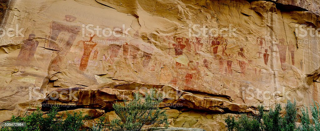 Pictographs Native American Indian stock photo