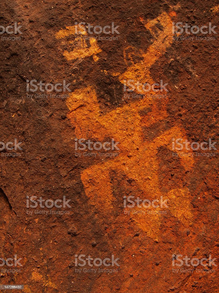Pictographs of Cave Valley royalty-free stock photo
