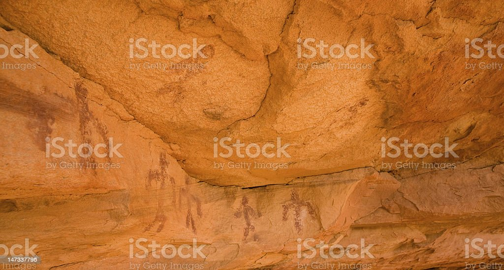 Pictographs of the Anasazi Culture royalty-free stock photo