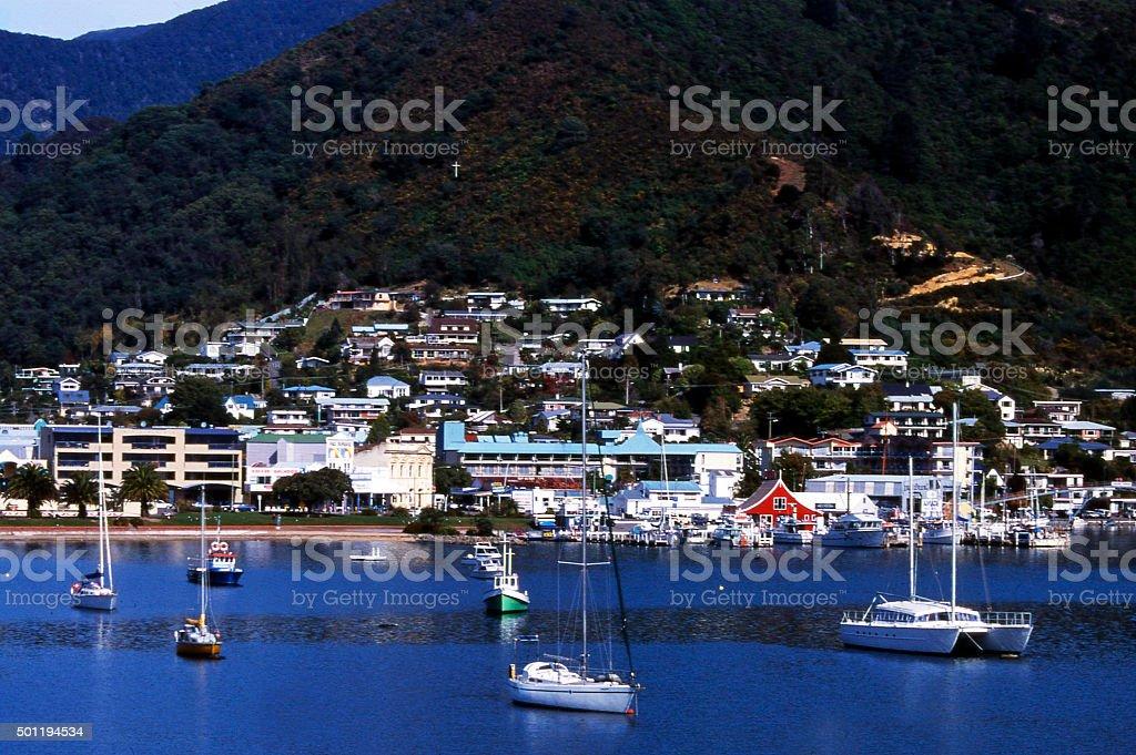 Picton, New Zealand stock photo