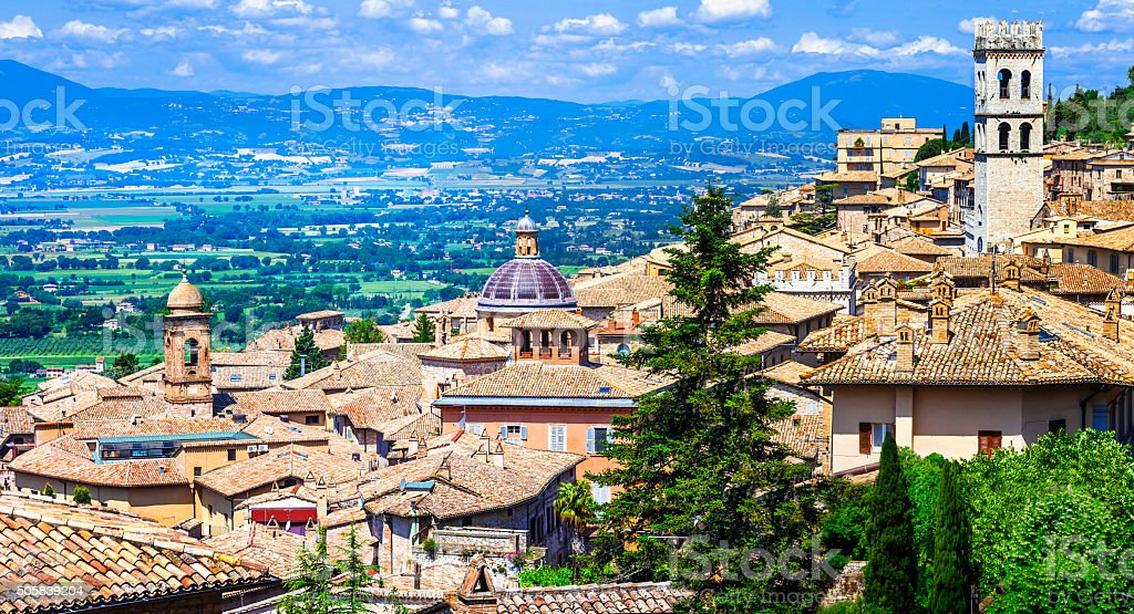 Pictorial Assisi,Umbria,Italy. stock photo