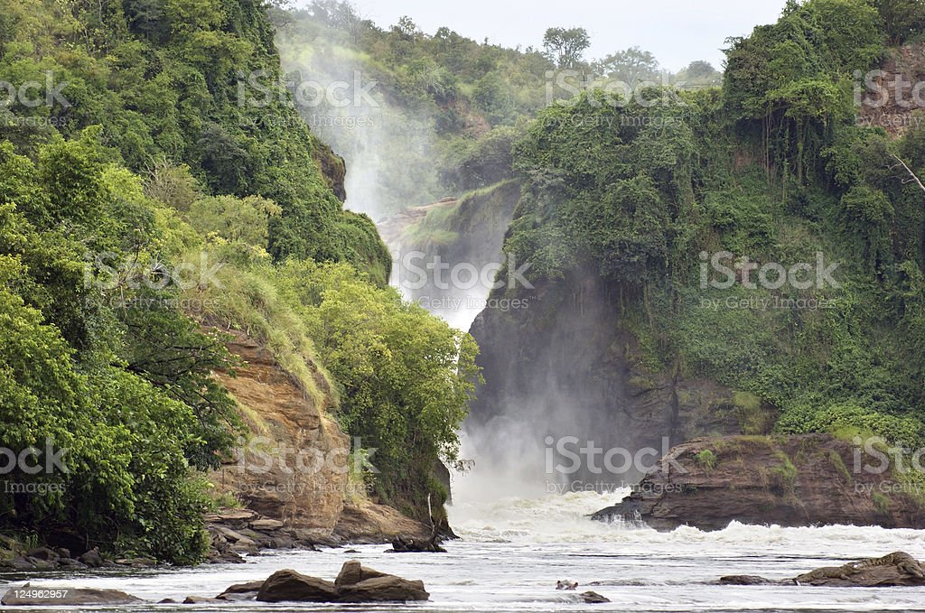 pictorial Murchison Falls stock photo