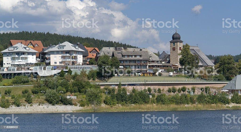 pictorial Schluchsee in Southern Germany stock photo