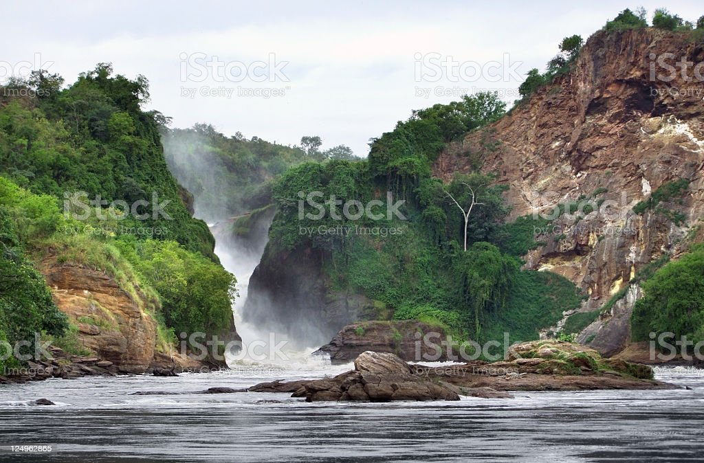 pictorial view of the Murchison Falls stock photo