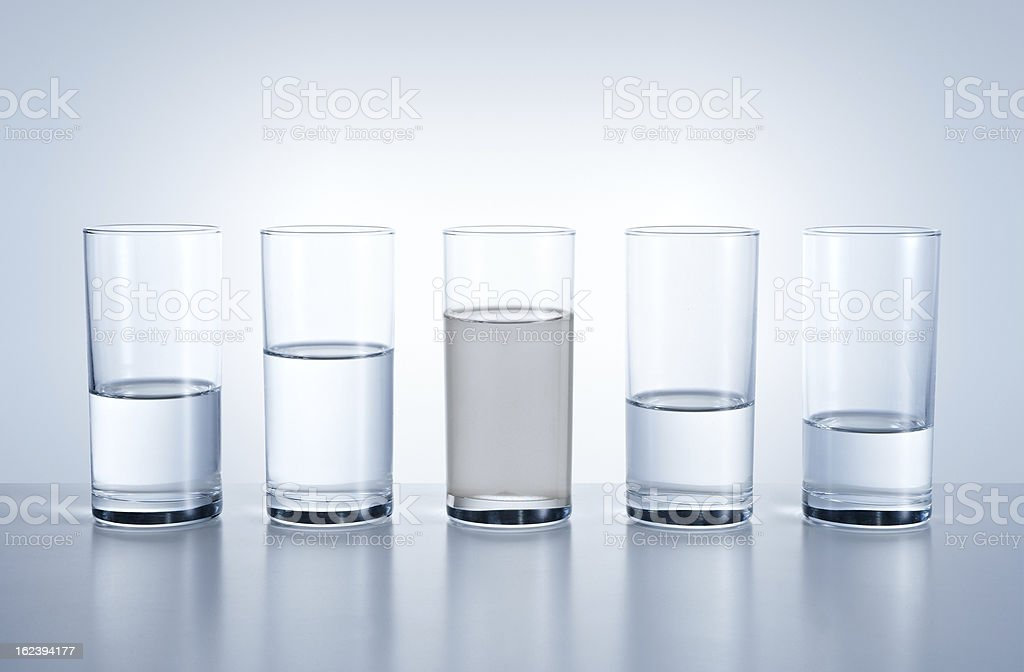 A picture displaying the water shortage in different areas  stock photo