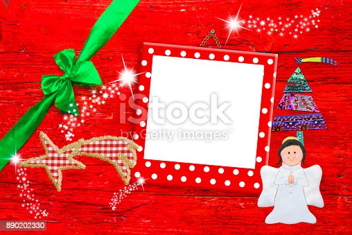 678159134 istock photo Picture frame Christmas greeting card 890202330