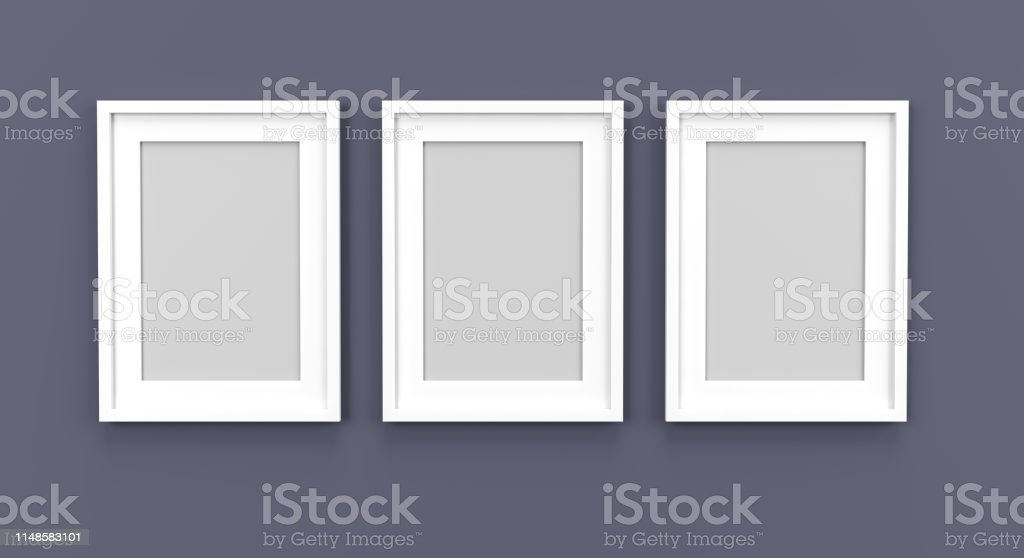 picture frame empty template 3D