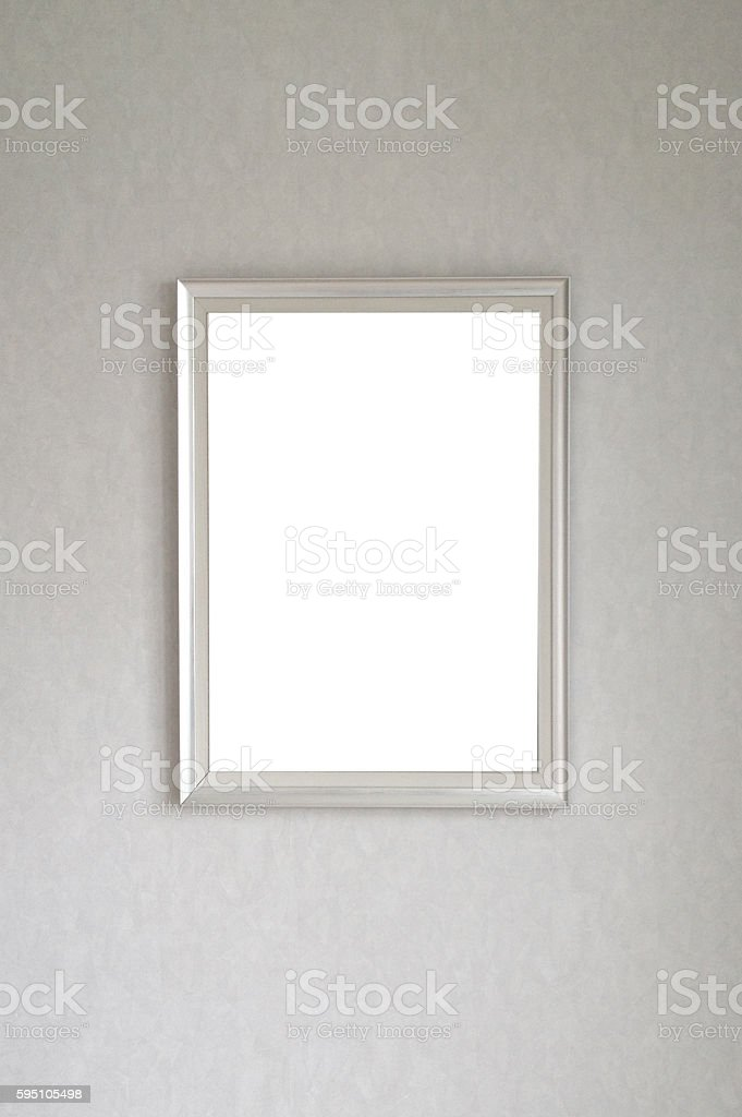 Picture Frame Hanging on Wall stock photo