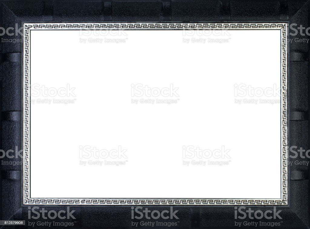Picture Frame in Black stock photo