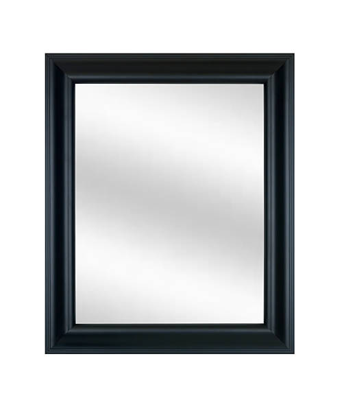 Picture Frame in Black with Mirror, White Isolated stock photo