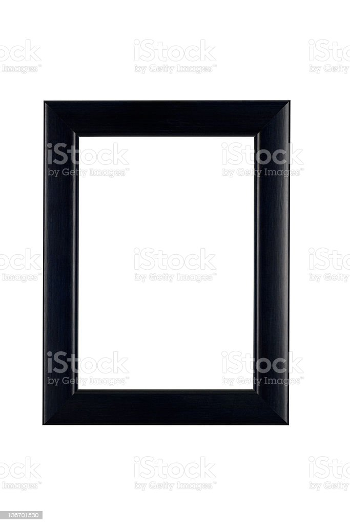 Picture Frame in Classic Black, White Isolated stock photo