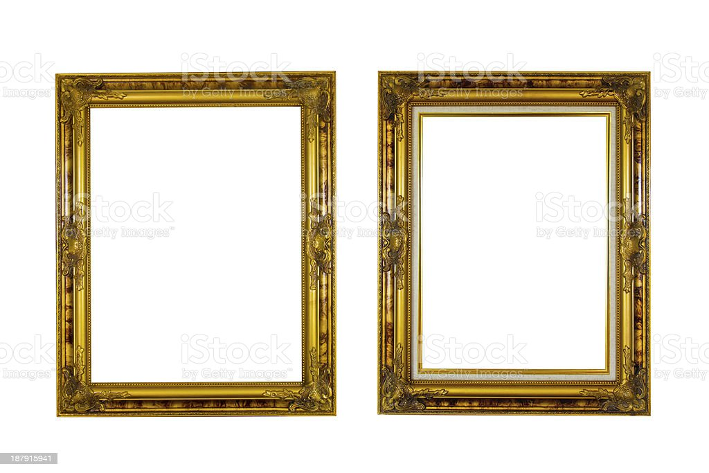 Picture frame. isolated on white background royalty-free stock photo