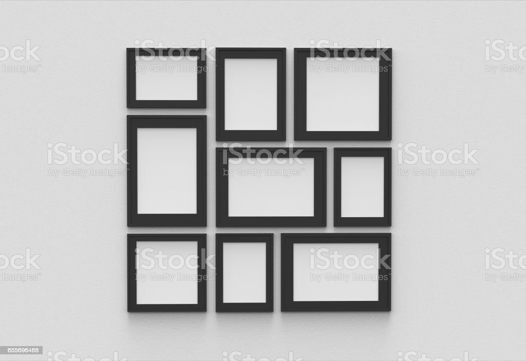 Picture Frame Isolated On White Drywall Background Stock Photo ...