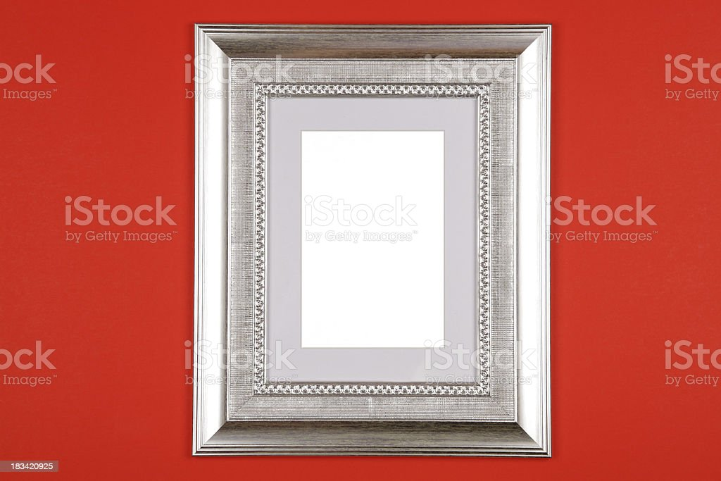 4c9defa5c94 Picture Frame On A Red Wall Stock Photo   More Pictures of Clipping ...