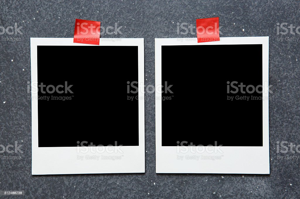 Picture frame on gray background stock photo