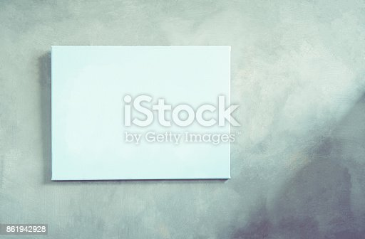 istock picture frame on the walls of the house are made of cement. natural pattern for beautiful wallpapers. Suitable for use an luxurious background. Vintage tone 861942928