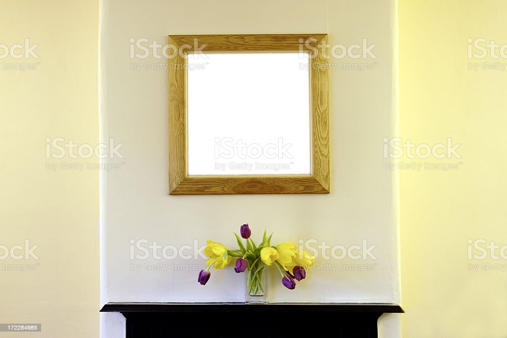 Picture Frame on Wall royalty-free stock photo